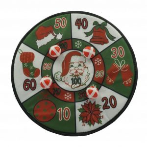 Karácsonyi mintás tépőzáras, öntapadó darts