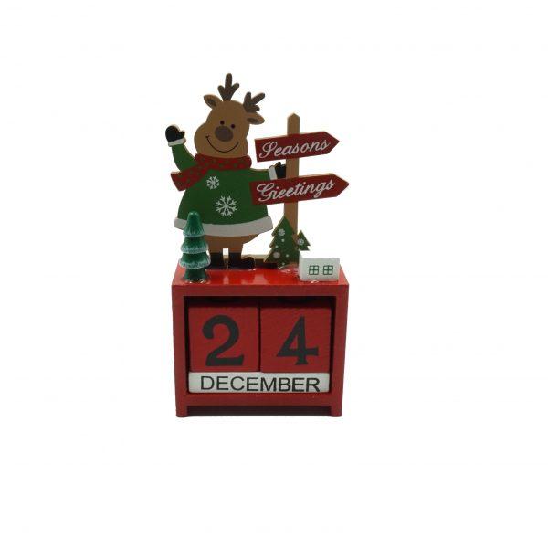Rudolfmintás karácsonyi fa öröknaptár