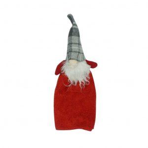 Manós karácsonyi kéztörlő - Piros