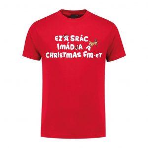 Karácsonyi mintás póló - Christmas FM - Férfi