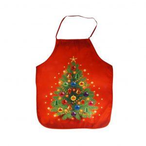 Karácsonyfa mintás karácsonyi kötény