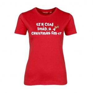 Karácsonyi mintás póló - Christmas FM - Női